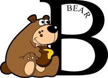 动物字母表熊 库存图片
