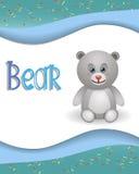 动物字母表熊 免版税库存照片