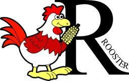 动物字母表鸡 库存照片