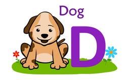动物字母表D_Dog 狗的D 向量例证