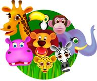 动物密林 库存照片