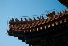 动物屋顶颐和园北京 库存图片
