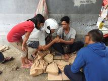动物市场在巴厘岛印度尼西亚 免版税图库摄影