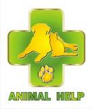 动物帮助商标 免版税库存照片