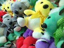 动物形状的玩具布料玩偶 库存图片