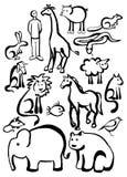 动物徒步旅行队 免版税库存图片
