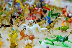 动物微小的图玻璃工作  免版税图库摄影