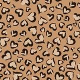 动物心脏|无缝的背景 免版税库存照片