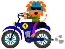 动物摩托车越野赛 免版税图库摄影