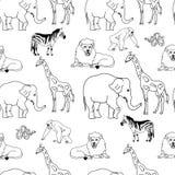 动物无缝的样式 免版税库存图片