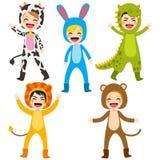 动物服装孩子 免版税库存图片