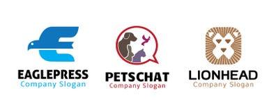 动物标志设计 库存图片