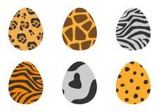 动物样式被设置的复活节彩蛋的例证 免版税库存照片
