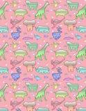 动物样式& x28; pink& x29; 库存照片