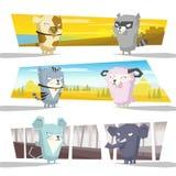 动物汇集队C 库存图片