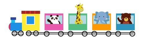 动物火车 免版税库存图片