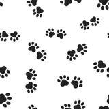 动物爪子印刷品无缝的样式背景 企业平的vect 图库摄影
