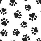 动物爪子印刷品无缝的样式背景 企业平的vect 免版税库存图片