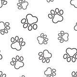 动物爪子印刷品无缝的样式背景 企业平的vect 库存图片