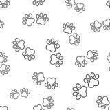 动物爪子印刷品无缝的样式背景 企业平的vect 库存照片