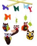 动物玩具-猫头鹰 库存图片