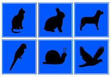 动物符号 免版税库存照片