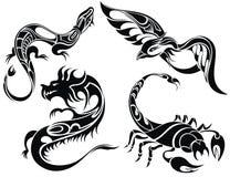 动物纹身花刺设计  图库摄影