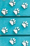 动物脚印标志 库存图片