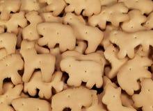 动物薄脆饼干 库存照片