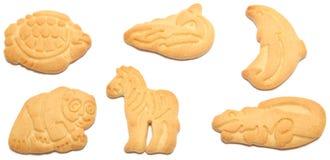动物薄脆饼干 库存图片