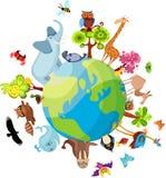 动物行星 免版税库存照片