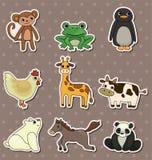 动物贴纸 库存照片