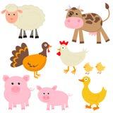 动物逗人喜爱的农场 库存图片