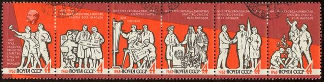 动物邮费俄国系列印花税 免版税库存图片