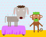 动物针灸 向量例证