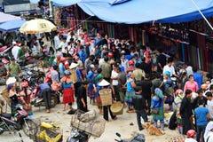 动物销售在越南的市场上 库存图片
