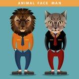 动物面孔人 免版税库存照片