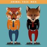动物面孔人 免版税库存图片