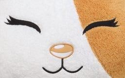动物面孔的织品样式 库存照片