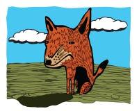 动物婴孩背景动画片逗人喜爱的狐狸白色 库存照片
