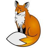 动物婴孩背景动画片逗人喜爱的狐狸白色 免版税库存图片