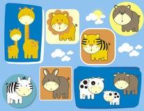 动物婴孩逗人喜爱的集 免版税库存图片