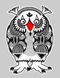 动物幻想要人,猫头鹰 免版税库存图片