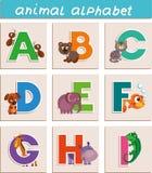 动物alphabet_abcdefghi 免版税库存图片