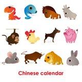 动物calenda中国滑稽十二 向量例证