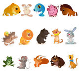动物fiveteen滑稽的集 向量例证
