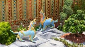 动物himmapan雕象 图库摄影