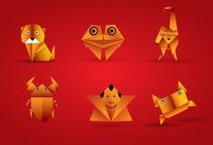 动物origami向量 库存图片