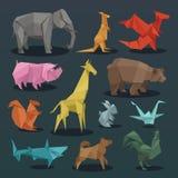 动物origami套野生动物创造性的装饰传染媒介例证 皇族释放例证