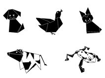 动物origami 免版税库存照片